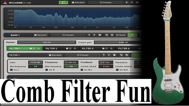 MCombMB: Comb filter fun with drums using MCombMB