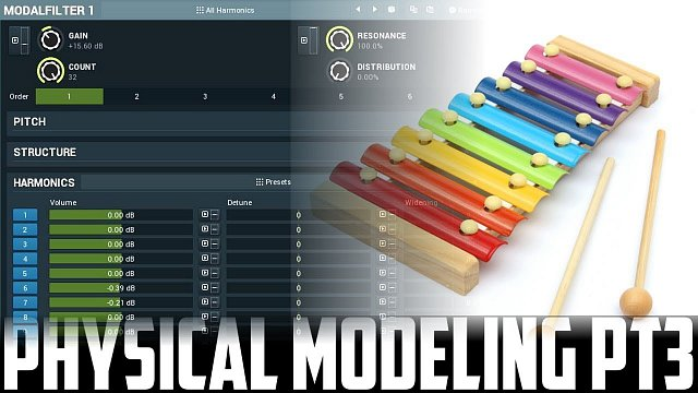 Physical modeling #3 - modal filter