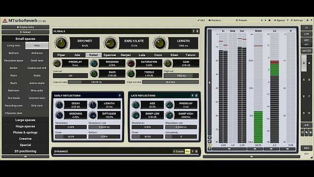 MTurboReverb: Reverb design #6 - Smart seed generator and stereo field management