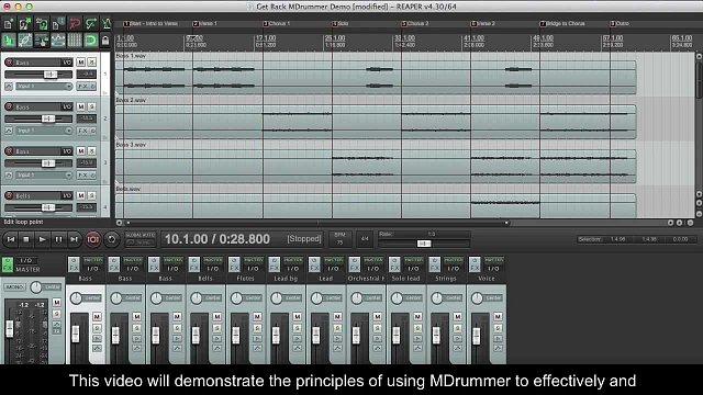 4 - Creating a drum track in Cockos Reaper