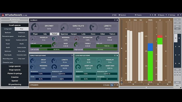 MTurboReverb: Reverb design #5 - The complex and powerful algorithms
