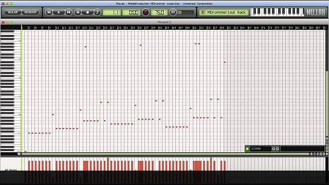 4 - Creating a drum track in Mulab