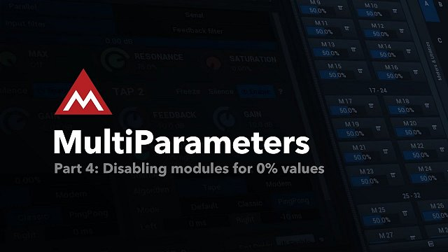 Disabling modules for 0% values