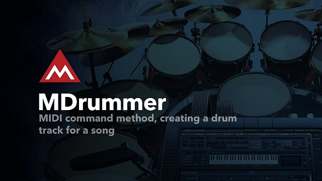 MIDI command method, creating a drum track for a song