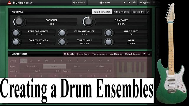MUnison: Create a drum ensemble from a single drum