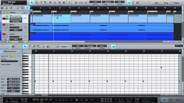 4 - Creating a drum track in Presonus Studio One
