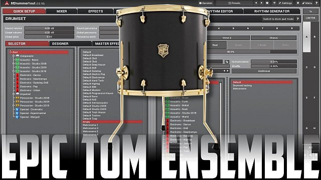 Creating an epic tom ensemble with MDrummer
