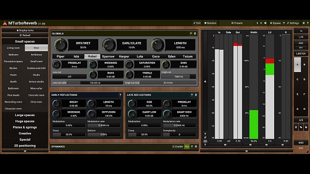MTurboReverb: Reverb design #4 - Feedback delay networks