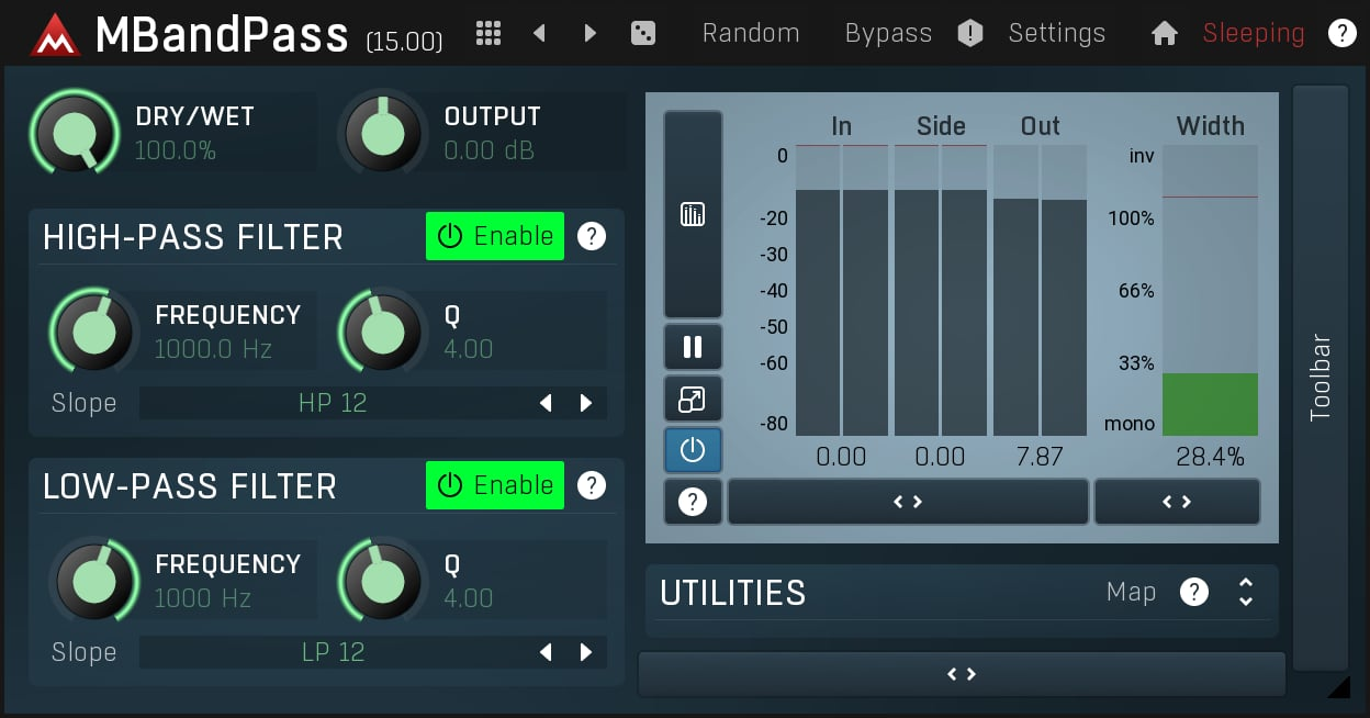 MBandPass free filter vst